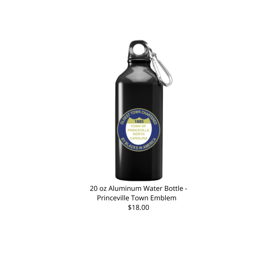 20 oz Black w/ Town Emblem Aluminum Water Bottle