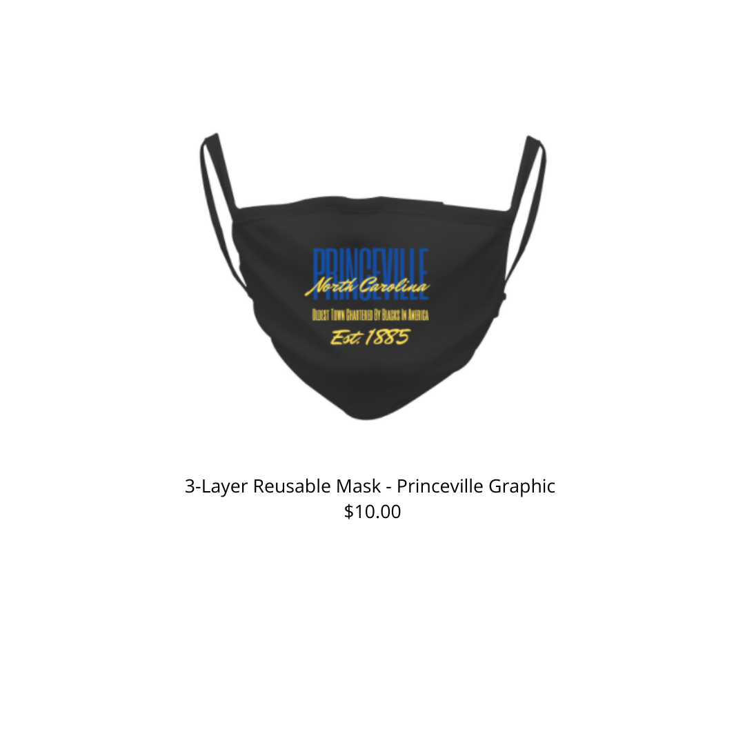 Princeville 3-Layer Reusable Custom Mask - Blue and Yellow Design