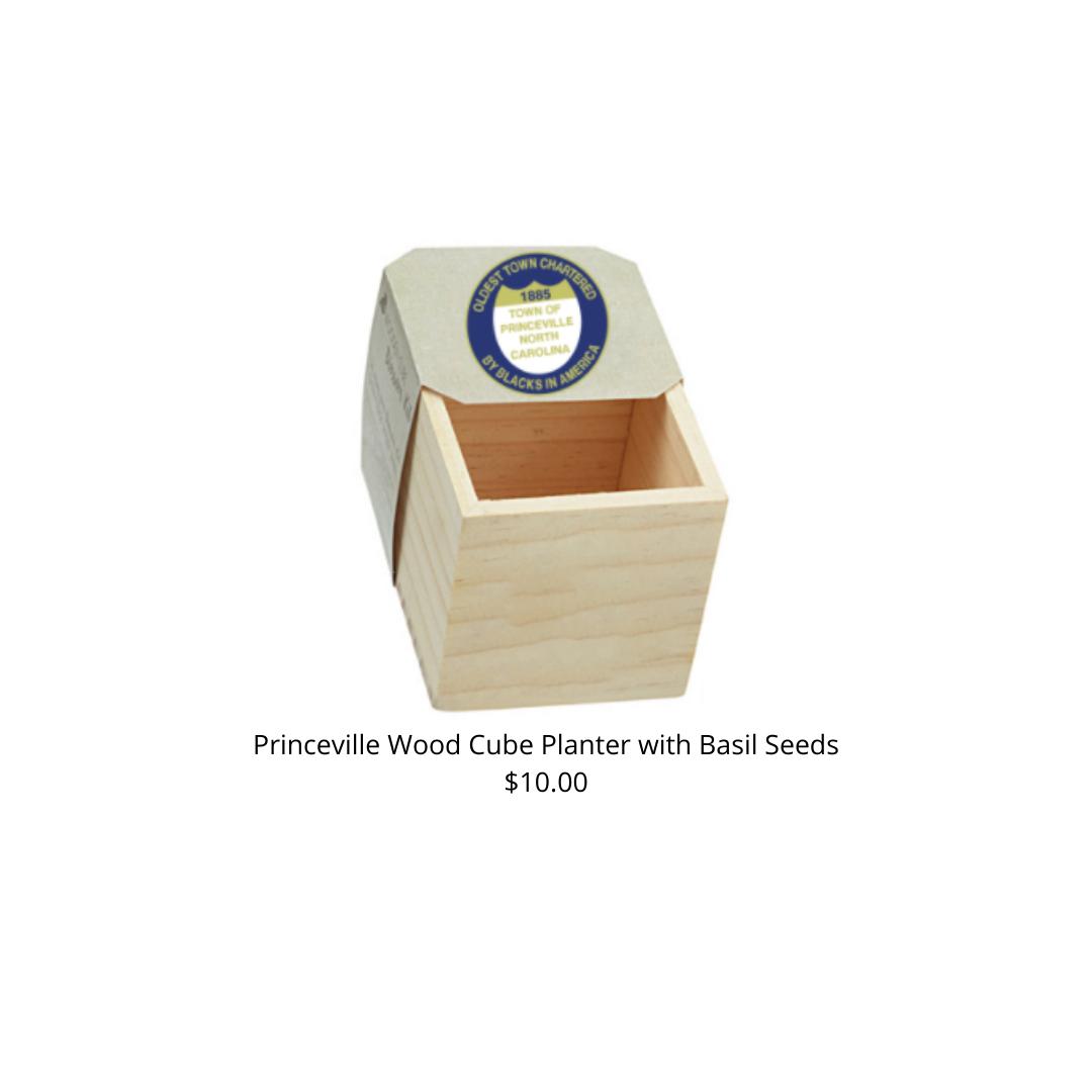 Basil Natural Pine Wooden Cube Blossom Kits